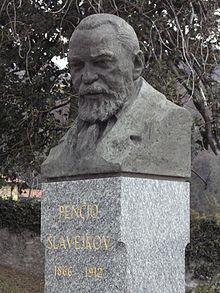 Il busto di Slavejkov a Brunate