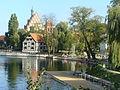 Bydgoszcz, kościół par. p.w. śś. Marcina i Mikołaja, 1466-1502 - widok od strony Wyspy Młyńskiej.JPG
