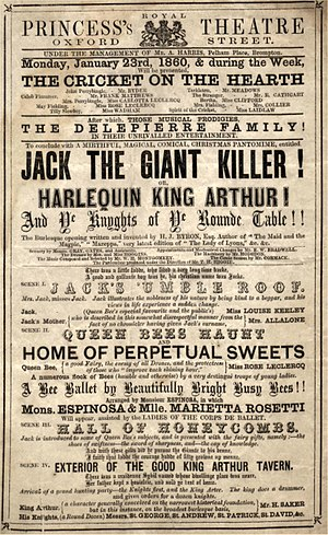 Henry James Byron - Poster for Byron's 1859–60 pantomime, Jack the Giant Killer