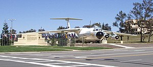 938th Military Airlift Group - C-141A at gate of Travis AFB