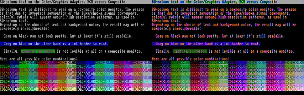 CGA CompVsRGB Text