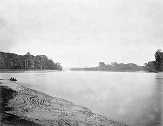 Batang Hari River - The Batang Hari photographed during the 1877-79 Sumatra Expedition