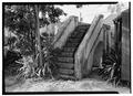 COURTYARD STAIRCASE LEADING TO CISTERNS - Post Office, Church and Company Streets, Christiansted, St. Croix, VI HABS VI,1-CHRIS,28-8.tif