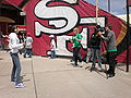 CW TV Network at 49ers Family Day 2009 2.JPG