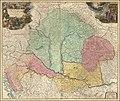 Ca. 1720 map of the Kingdom of Hungary by Johann Baptist Homann.jpg