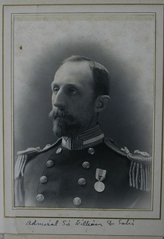William Fane De Salis (admiral) - Cabinet photograph of William Fane de Salis, RN, wearing one medal, as a Captain, circa 1900.