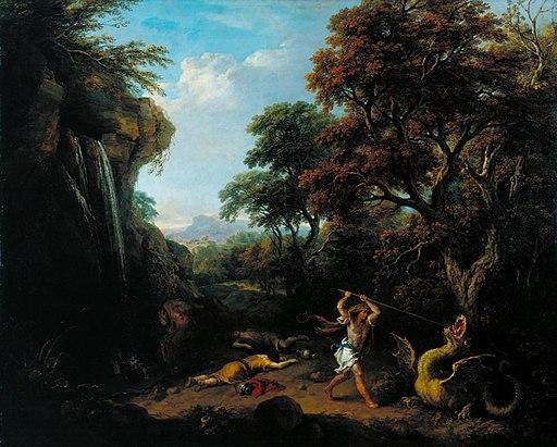 Cadmus killing the Dragon by Francesco Zuccarelli