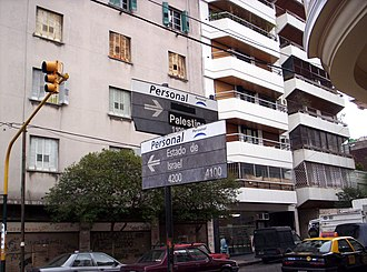 Almagro, Buenos Aires - Israel and Palestine Streets meet at an Almagro intersection.