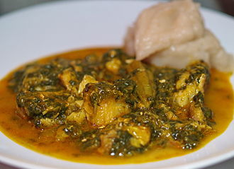 Angolan cuisine - Fish calulu, a typical dish from Angola and São Tomé e Príncipe