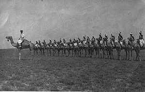 Dubats - Dubat camel troops under colonel Camillo Bechis orders