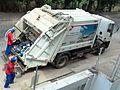 Caminhão da coleta de lixo de Coronel Fabriciano MG.JPG