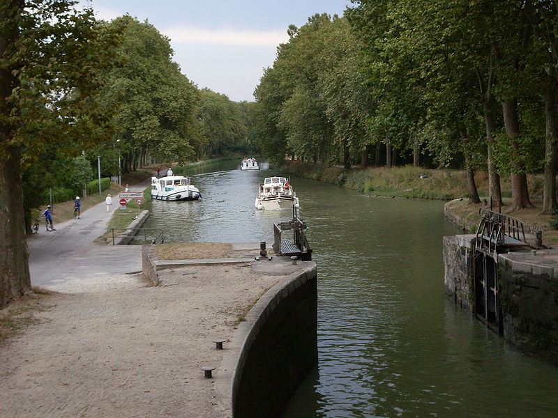 Canal du Midi:l'écluse Saint-Roch à Castelanaudry