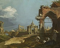 Canaletto (Venice 1697-Venice 1768) - A Capriccio View with a Pointed Arch - RCIN 405078 - Royal Collection.jpg