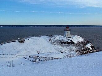 Cape Enrage - view of lighthouse and Nova Scotia