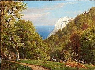 Carl Frederik Aagaard - Summer Day at Møns Klint.