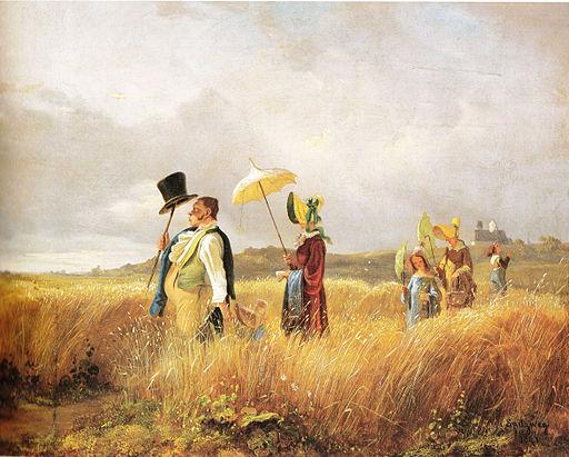 Carl Spitzweg - Sonntagsspaziergang
