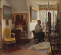 Carl Vilhelm Meyer - Kristian Zahrtmann i sit atelier - 1907.png