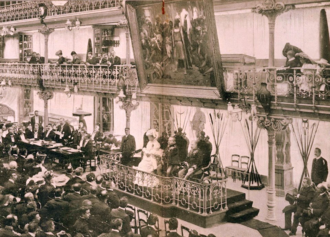 Lisbon Geographic Society - King Carlos I of Portugal opening the 1905 Lisbon Geographic Convention,