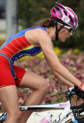Carolina Routier - Carolina Routier at the European Cup triathlon in Antalya, 2011.