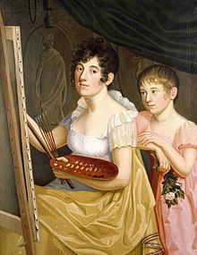 Johanna Schopenhauer with her daughter Adele in 1806. Painting by Caroline Bardua. (Source: Wikimedia)