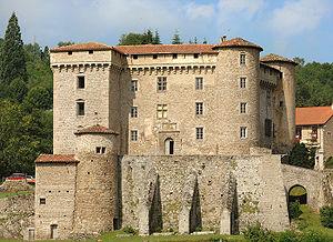 Château de Chalmazel - East front of the château