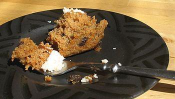 Carrot cake half eaten