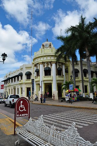Tapachula - City's Old City Hall building in the main plaza