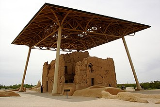 Frederick Law Olmsted Jr. - Olmsted-designed shelter at Casa Grande National Historic Monument