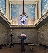 Castelnau-d'Estrétefonds Eglise - fonts baptismaux.jpg