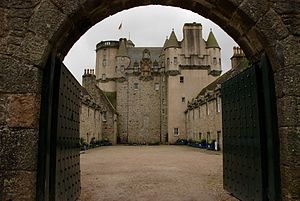 Castle Fraser - The rear courtyard.