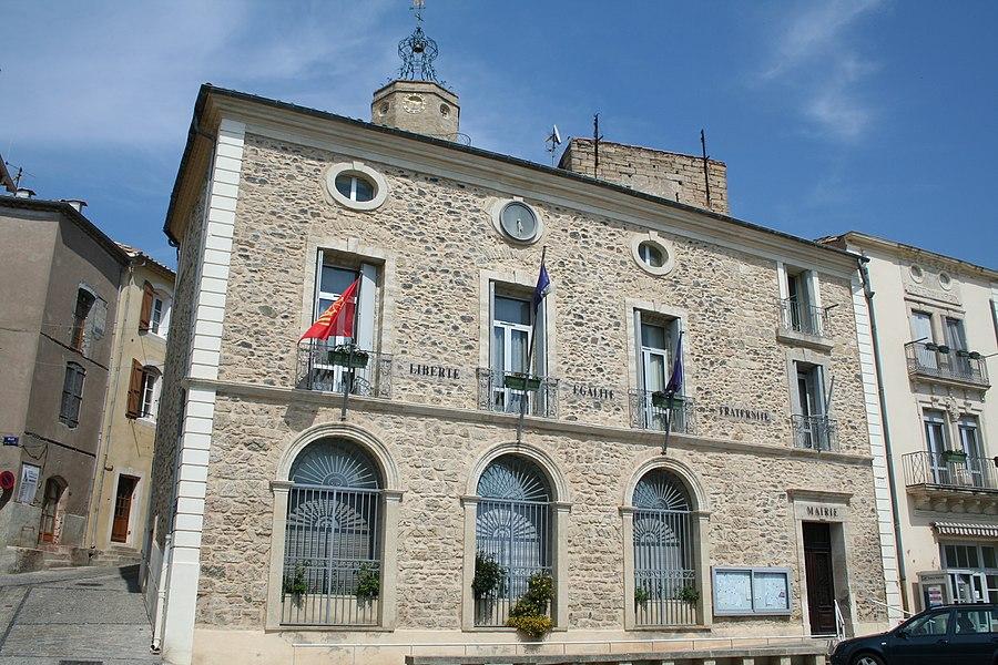 Caux (Hérault) - mairie.