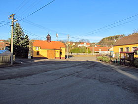 Center of Kuroslepy, Třebíč District.JPG