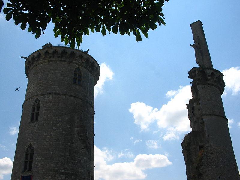 Vestiges du château de Mehun sur Yèvre (18).
