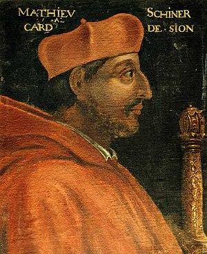 Matthäus Schiner - Painting of Schiner as cardinal (16th century).