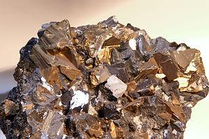 Copper extraction - Chalcopyrite specimen from Huaron mine,  Peru