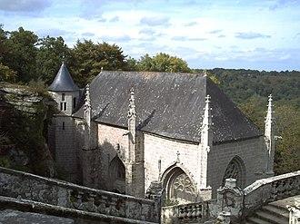 Le Faouët, Morbihan - View of Chapelle Sainte Barbe Le Fouët
