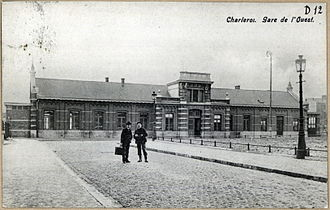 Charleroi-West railway station - The station at the beginning of the 20th century.