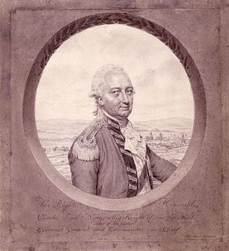 Battle of Bound Brook - Charles Cornwallis, 1792 portrait by John Smart