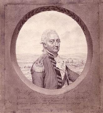 Battle of Bound Brook - Charles Cornwallis, 1792 portrait by John Smart