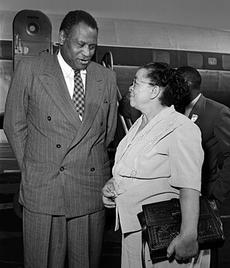 California Eagle -  Charlotta Bass and Paul Robeson, Los Angeles, 1949