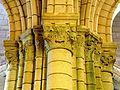 Chars (95), église Saint-Sulpice, bas-côté sud, chapiteaux du 2e pilier de la nef 4.JPG