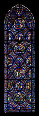 stained glass windows of the south side aisle of Cathédrale Notre-Dame de Chartres baie 042