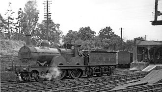 Cheltenham Spa railway station - An Old Stager at Cheltenham Lansdown Station in 1949