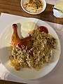 Chicken Kuzhimandi served with mayonnaise and tomato chutney- Qahwa, kollam- Kerala- 32295CDB-0196-4AAF-99F2-22AB040D04A3.jpg