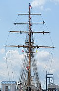 Chile's Esmeralda ship docked at Quebec City.jpg