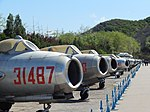 Chinese Air Force Mig-15 line-up, Beijing Aviation Museum (26474207365).jpg