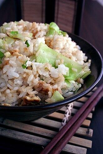 Chinese fried rice - Image: Chinese fried rice