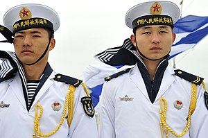 People's Liberation Army Navy - PLAN sailors shown here in 2009 during 60th anniversary celebrations of the PLAN.
