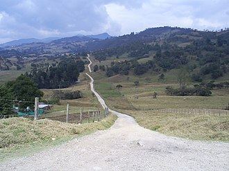 Chingaza National Natural Park - Image: Chingaza road