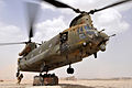 Chinook Helicopter Picks Up Supplies to Deliver to Frontline Soldiers in Afghanistan MOD 45153239.jpg